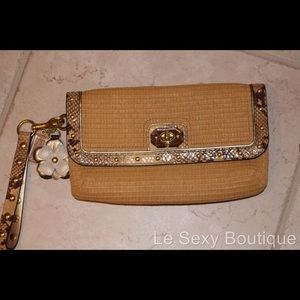 100% Authentic Coach Woven Summer Purse n Hangtags